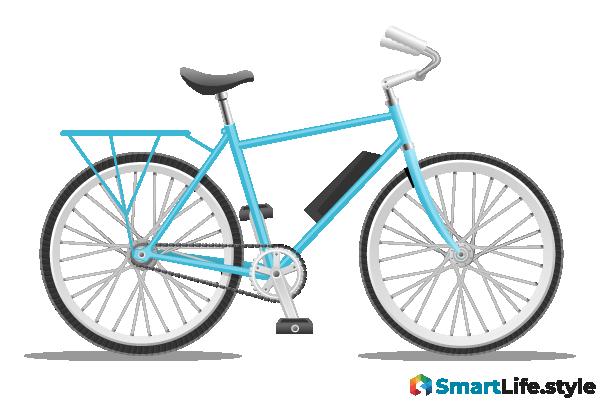 Vektorgrafik E-Bike City
