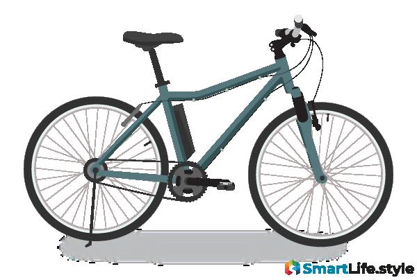 Vektorgrafik E-Bike Mountainbike