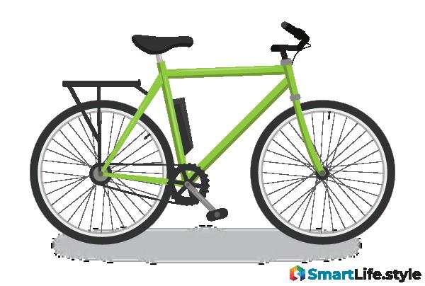 Vektorgrafik E-Bike Trekking