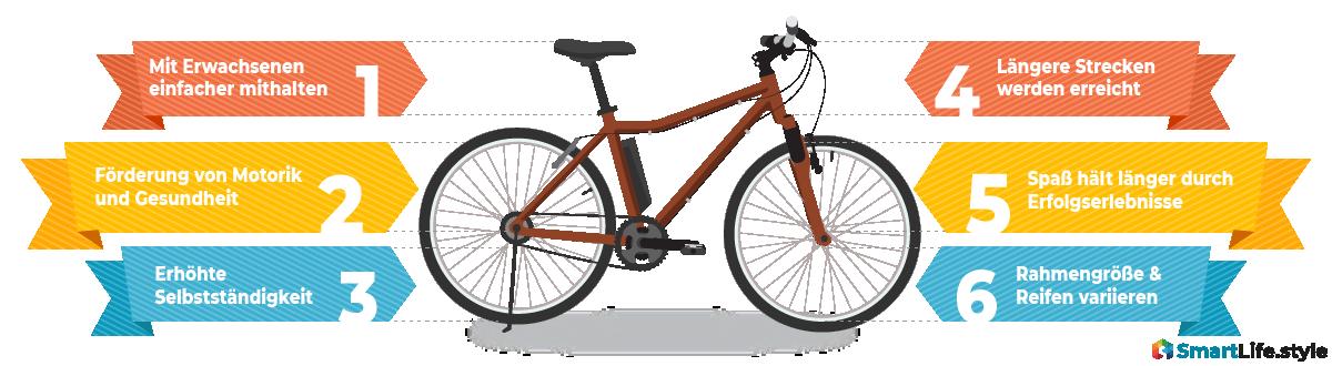 Wichtige Merkmale Jugend E-Bike
